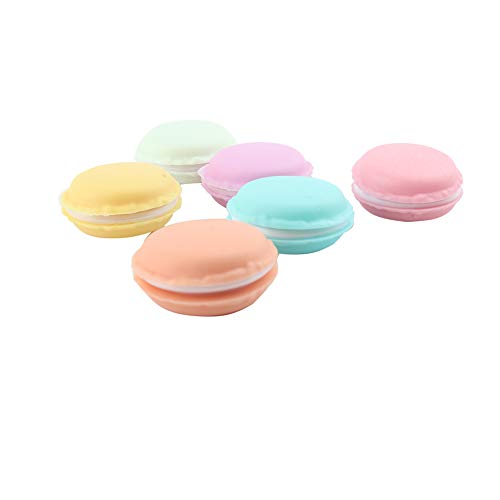 BIGBOBA Kopfhörer Box Schmuckschatulle Mini Macarons Tasche Ohrringe Medikamente Ring Box Schmuck Geschenke Aufbewahrungsbox 6 Stück