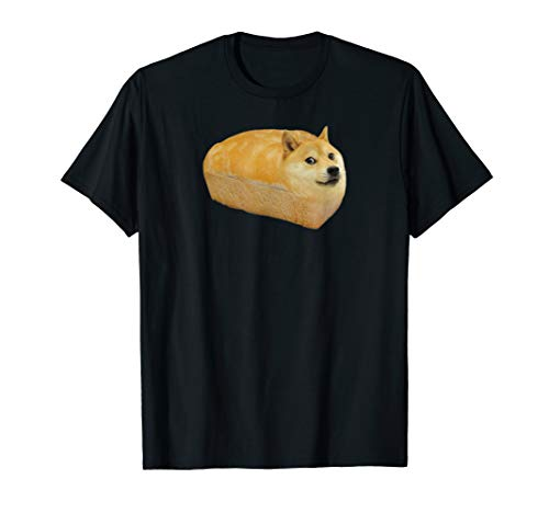 Shiba Inu Doge Bread Meme Dog Dogecoin Cryptocurrency T-Shirt