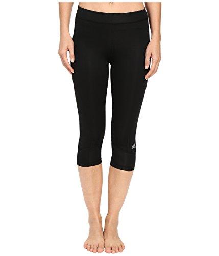 adidas Techfit Capri Leggings da Donna, Donna, S16APW213, Nero/Argento Opaco, XS