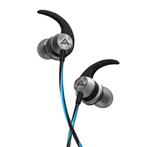 Boult Audio BassBuds X1 in-Ear Wired Earphones with Mic and 10mm Powerful Driver for Extra Bass and HD Sound (Blue)