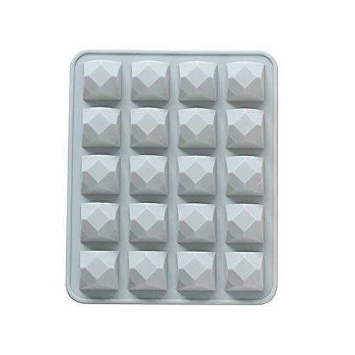 20 Cavity Multi-Wasser-Kastanie Diamant-Silikon-Form-Kuchen-Backen-Werkzeuge DIY-EIS-Behälter-Schokoladen-Form-Kuchen-Werkzeug MDYHJDHYQ (Color : Blau, Size : 20 grids)
