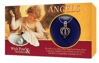 Love Perle En Coquillage Médaillon & Argent Pendentif Ensemble Cadeau Anges