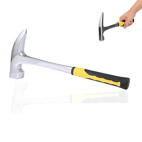 Schneespitze Ziegelhammer,Geologische Hammer,Rock Plektrum,Geologischer Erkundungs Hammer mit Spitzte Mund Geologie Tools Supplies,Geological Survey Hammer