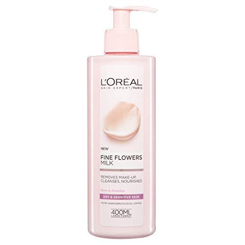 L'Oreal Paris Flores Delicadas - Leche de limpieza, limpia, desmaquilla y...