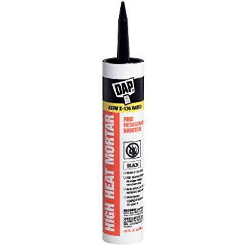 DAP 7079818854 High Heat Mortar Fire Stop Caulk, 10 Fl Oz, Black