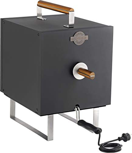 Orange County Smoker OCS 60360001 Räucherofen Räucherschrank Elektro Grill Räuscherfisch Räucherrost Abtropfschalen 1100 Watt Räuchertonne Elektrisch Ohne Flamme Ideal für Garten und Terrasse