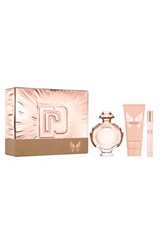 Paco Rabanne Olympea Eau de Parfum 80 ml, Eau de Parfum 10 ml & Body Lotion 100 ml Damen Geschenkset