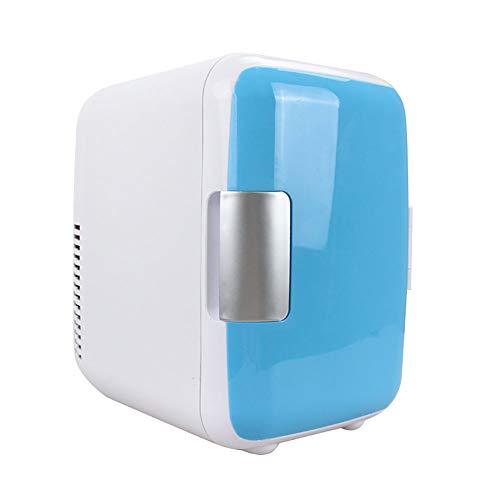 Mini-koelkast, koel- en warme elektrische koelbox, 12 V DC, draagbaar, voor in de auto, voor op reis of op de camping blauw