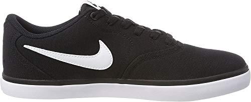Nike SB Check Solar Cnvs, Zapatillas de Deporte para Hombre, Negro (Black/White), 42 EU