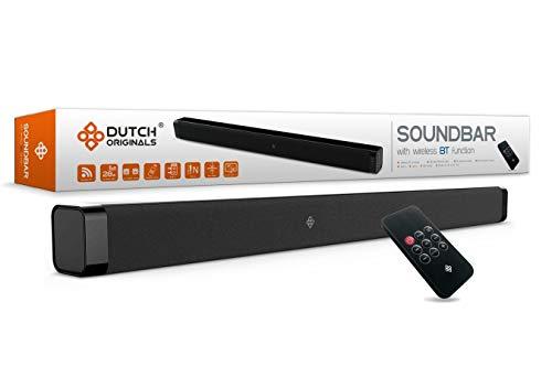 DUTCH ORIGINALS 28 W Bluetooth 4.2 Soundbar für TV, Heimkino, Wireless Sound System in Schwarz, AUX, RCA-Kabel, Fernbedienung, für 32