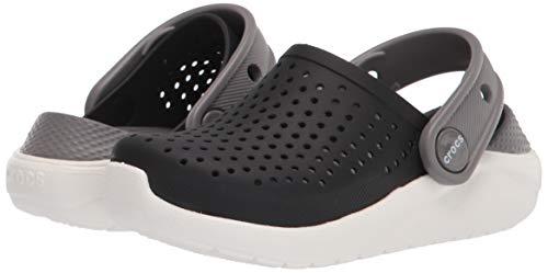 Crocs LiteRide Clog K Unisex Niños LiteRide Clog K, Negro (Black/White), 37/38 EU