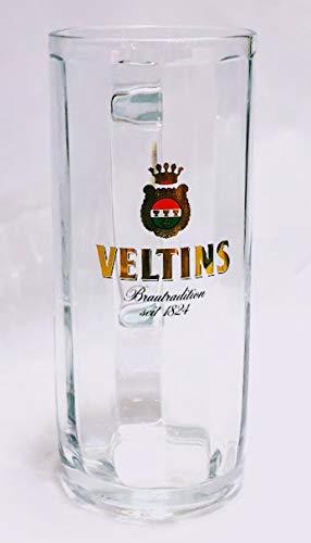 Veltins, set da 6 boccale di birra da 0,5 l, in vetro, da birra, per gastronomia, bar, collezione, da collezione