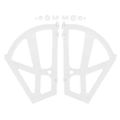 Accesorio para bisagras, bisagras para zapatero, bisagras para zapatero ahuecadas de dos capas, fáciles de montar y desmontar, para dormitorio, sala de estar y entrada(white)