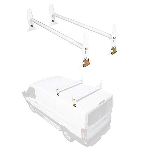 ECOTRIC Adjustable Van Roof Ladder Rack 500LBS 2 Bars for Chevy Dodge Ford GMC Express 77''