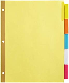 Office Depot insérable Intercalaires avec Onglets Big, Chamois, couleurs assorties, 5-tab, Od14785