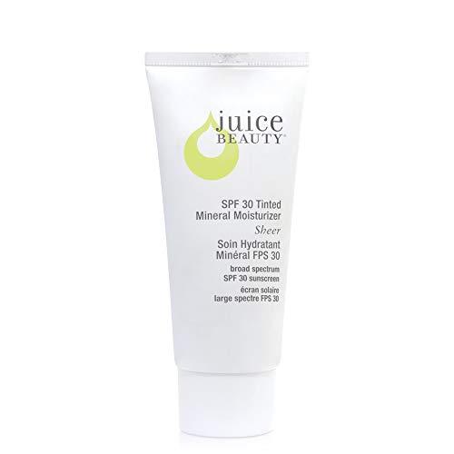 Juice Beauty SPF 30 Sheer Mineral Sunscreen Moisturizer, 2 fl oz., Broad Spectrum UVA UVB, Organic, Vegan, Reef Safe, Non-Toxic, No Chemical, Cruelty Free