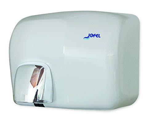 JOFEL- Secador de Manos Óptico Blanco, Velocidad Estandar, Secado Rápido, Alta Resistencia, Ideal Para Uso Industrial, Se Acciona Aproximando las Manos