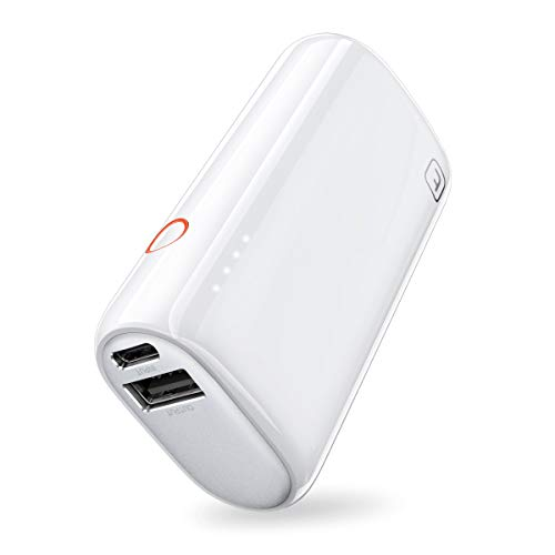 TORRAS Mini Portable Charger 5000mAh Minimalist Design with Faster Charging Power Bank, Lightest Emergency External Battery Compatible iPhone 11/11 Pro Max/Xs/XR/8/7/6 /AirPods, Samsung and More…