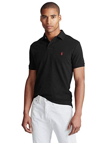 Ralph Lauren 710782592001|Polo Poloshirt Custom-Slim-Fit Schwarz|L
