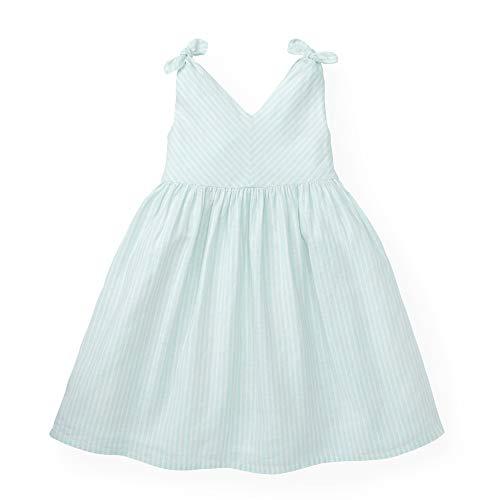 Hope & Henry Girls' Mint Bow Shoulder Dress