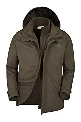 Water-resistant - Treated with Durable Water Repellent (DWR), droplets will bead and roll off the fabric. Light rain, or limited exposure to rain Detachable Inner Jacket - This clothing can be worn on its own or with the outer Packaway Hood - Simply ...