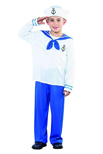 Eurocarnavales - Cs870614/s - Costume Garcon Marin Taille S 4/6 Ans