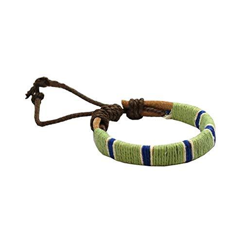 FJ256 - The Olivia Collection Bracelet en Cuir et Textile 17,5cm