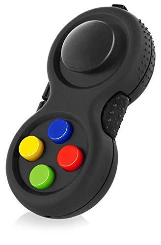 Onsinic gummierter Classic Controller Game Pad Fidget Fokus Spielzeug mit 8-Fidget Funktionen und Lanyard - Perfekt für streßvermindernde