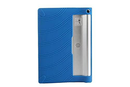 para Lenovo Yoga Tablet 2 1050F 10.1'Funda de Silicona Funda Tabla de Yoga 2 10 10.1 Pulgadas 1050F Gel de sílice Bolso Protector Suave Yoga Tab2-Blau