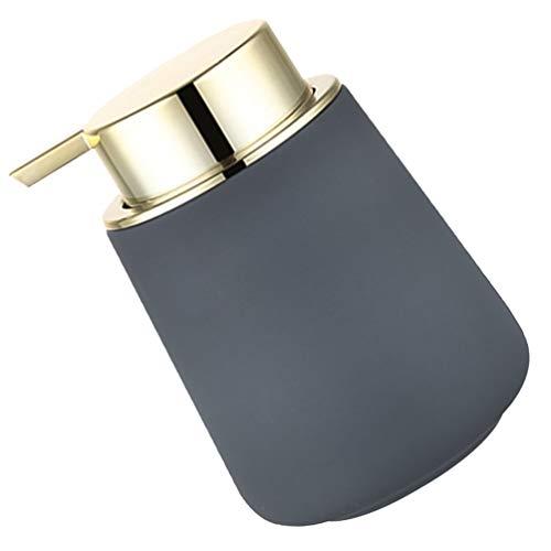 Cabilock Zeepdispenser Keramische Vloeibare Handzeep Dispenser Pomp Fles Hand Lotion Fles Voor Aanrecht Badkamer Teller Grijs