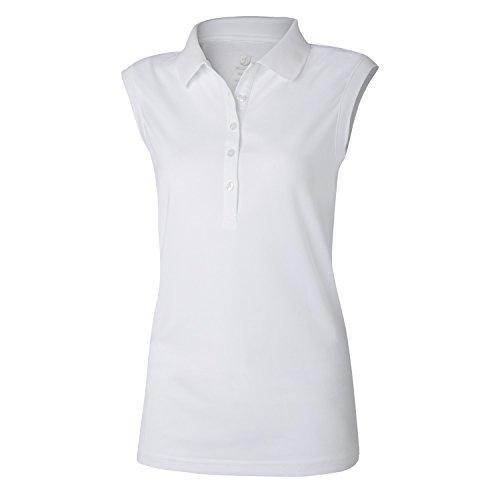 Wilson Golf Femme Polo de sport sans Manches, SLEEVELESS POLO, Polyester, Blanc (Optic White), Taille: XL, WGA700319