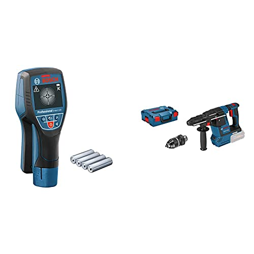Bosch Professional Martillo perforador combinado a batería GBH 18V-26 F + Bosch Professional Detector de pared D-tect 120