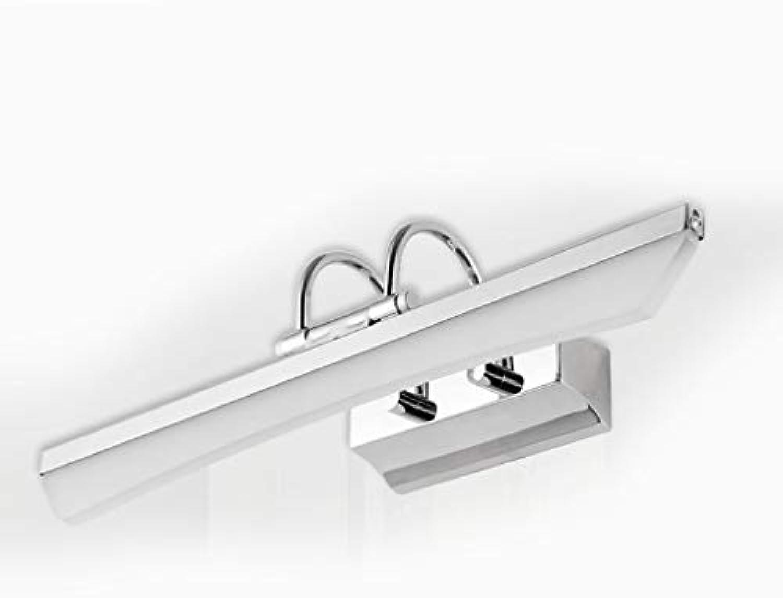 Spiegel Vorne Licht Led-Spiegel Lampe Modernen Minimalistischen Edelstahl Badezimmer Spiegelschrank Light Wandleuchte (Farbe  Wei-7W 55 Cm)