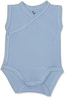 Papillon Basic Stitched V-Neck Sleeveless Bodysuit for Kids - Blue