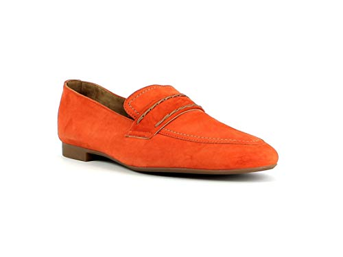 Paul Green Damen SlipperMokassins 2504, Frauen Slipper, Loafer businessschuh weibliche Lady Ladies feminin elegant Women's,ORANGE,38.5 EU / 5.5 UK