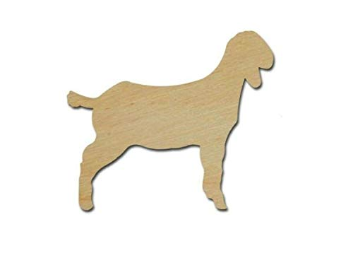 New Wooden pieces - Goat Shape Unfinished Wood Craft Cutouts Farm Animal Shapes Variety Sizes (10  inch 1 piece) - Wooden Pieces for Crafting by LUKAS WINGES