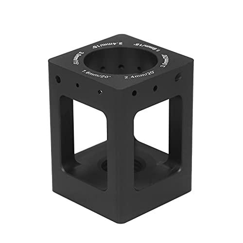 Tomshin Apontador de eletrodo de tungstênio Agulhas de tungstênio Hastes de tungstênio Moedor de alumínio Soldagem TIG Eletrodos de tungstênio ferramenta de afiação com 10 rodas diamantadas 2 mandris bolsa de armazenamento