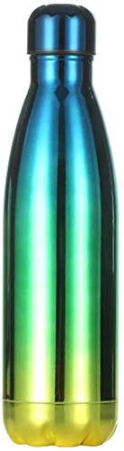 Stainless Steel Water Bottle 500ml,Metal Water Bottle,Water Bottle Vacuum Insulated Bottle 500ml/24hrs Cold - Stainless Steel Double Walled - 12hrs Hot Drinks Wate,E,500ml
