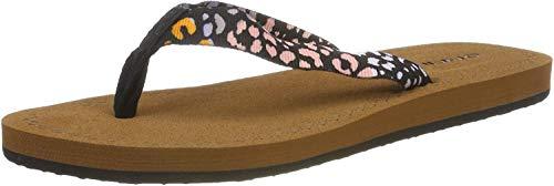 O'Neill Damen FW Woven Strap Sandals Riemchensandalen, Schwarz (Black AOP W/Pink 9940), 36 EU