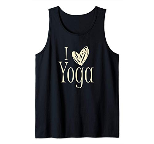 I Love Yoga - Heart Sketch Silhouette Image Camiseta sin Mangas