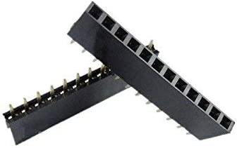 ZTSHBK 20PCS Cheap super special price 2.54mm Pitch 12 Pin Row Single Female Head Straight Industry No. 1