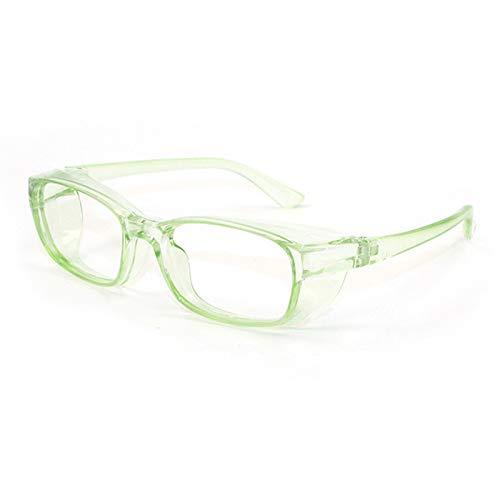 QIULAO Gafas Anti-Polen Infantiles, Espejo de Polen Sellado Todo Incluido, Anti-Viento, Arena, Polvo, gotitas, Anti-Niebla, luz Anti-Azul, Adecuado para Gafas de Seguridad para niños (Color : Green)
