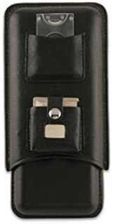 Executive C243B Black Leather 3 Piece Cigar Case Holder with Cutter and Lighter-Beautiful Cigar Accessories
