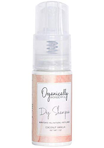 Organically Wonderful | Organic and Non-Toxic | Spray Dry Shampoo | Coconut Vanilla