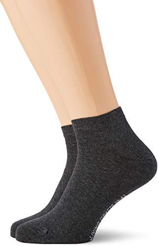 Living Crafts Sneaker-Socken, 2er Pack 43/46, anthra melange