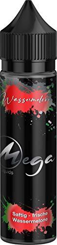E-Zigarette E Liquid ohne Nikotin I E-Liquids 1 x 50ml I MEGA LIQUID I Vape Liquid 70 VG/30 PG für elektronische Zigaretten oder Shishas, Nikotinfrei I Made in Germany I Sucralosefrei (Wassermelone)