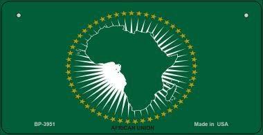 Koopje Wereld Afrika Unie Vlag Nieuwigheid Fiets Plaat (Met Sticky Notes)