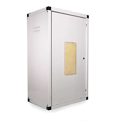takestop® Box COPRICALDAIA COPRISCALDINO COIBENTATO PREVERNICIATO Bianco Acciaio ZINCATO CO85 (85x50x35 Cm)