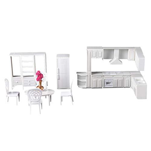 Amagogo Muebles de Cocina de Casa de Muñecas, Modelo a Escala 1:25, Accesorios de Pieza de Bricolaje