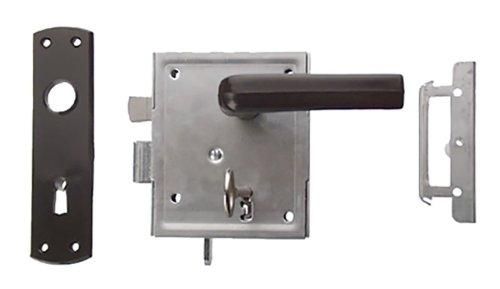 Connex DY220030 - Serratura universale con maniglia per porta battente, a cilindro, zincata